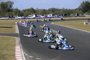 Ricciardo Kart driver Marc Tulloch leading the X30 field (Pic: Coopers Photography)