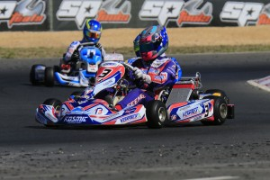 Gold Coasters Broc Feeney (#3) and Lochie Hughes (#15) will battle it out for the KA2 title (Pic: Coopers Photography)