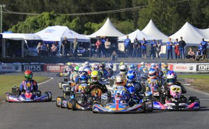 Brad Jenner leading the Rotax Light field (Pic: Coopers Photography)