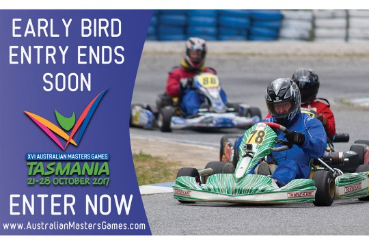 EARLY BIRD ENTRY FOR MASTERS GAMES CLOSES FRIDAY