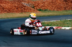 James Courtney in action during his karting days