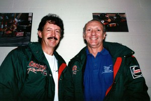 Jim Morton (left) with long-time engine builder Ken Mitchell