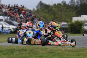 CRG driver Pierce Lehane took the challenge to the international stars on Saturday. (Pic: Coopers Photography)