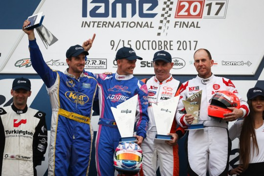 KIP FOSTER ON IAME INTERNATIONAL FINAL PODIUM