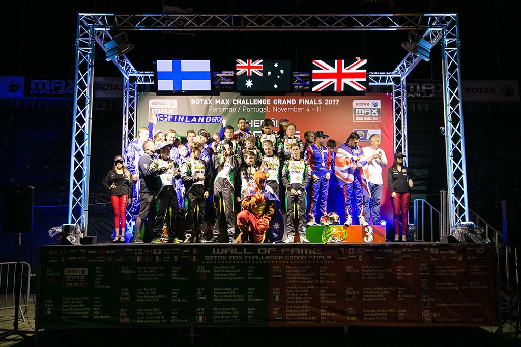 The Australian team celebrating their win in the Nations Cup (Pic: BRP-Rotax)