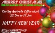 KARTING AUSTRALIA CHRISTMAS OFFICE CLOSURE