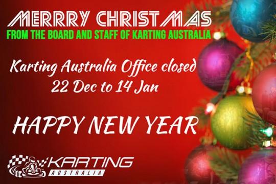KARTING AUSTRALIA CHRISTMAS OFFICE CLOSURE