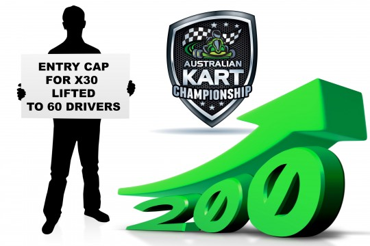 ENTRIES EXCEED 200 FOR AUSTRALIAN KART CHAMPIONSHIP OPENER