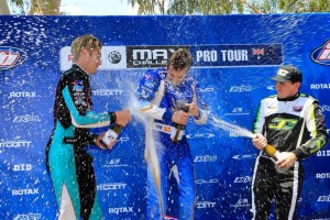 The champagne flowing on the DD2 Podium (Pic: Coopers Photography)