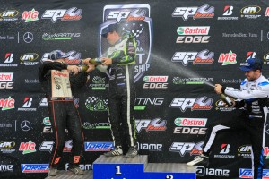 Celebrations on the KZ2 podium (Pic: Coopers Photography)