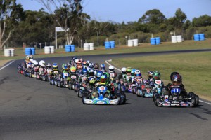 291 entries have been received for next weekend's opening round of the SP Tools Australian Kart Championship (Pic: Coopers Photography)