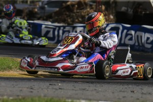 Jaiden Jin became the first driver from Singapore to win a heat race in the Australian Kart Championship (Pic: Coopers Photography)