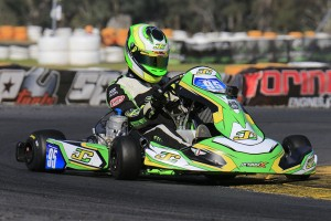 Melbourne teenager Aaron Cameron leads the standings in the elite KZ2 category entering this weekend's final round. (Pic: Coopers Photography)