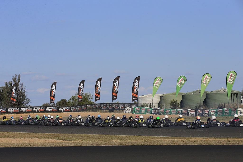 270 Entries have been received across nine categories for this weekend's final round of the 2018 SP Tools Australian Kart Championship presented by Castrol EDGE. (Pic: Coopers Photography)