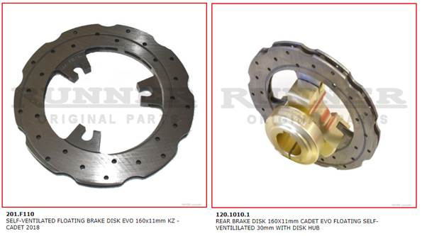 RUNNER BRAKE SYSTEMS AS USED ON CORSA AND HAASE KARTS - Karting