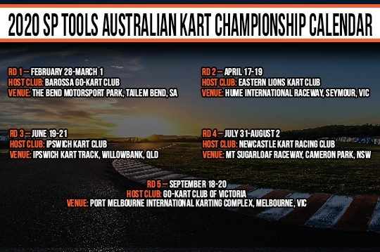 AUSTRALIAN KART CHAMPIONSHIP TO HIT THE BEND